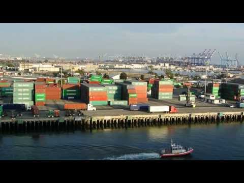 Container Trucks at Port of Los Angeles