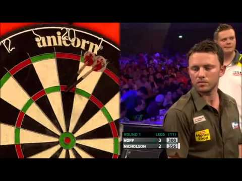 Max Hopp vs Paul Nicholson   European Darts Championships 2013 First Round   YouTube