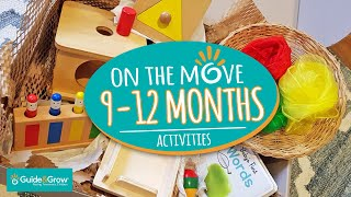 Montessori activities 9-12 months - On the move