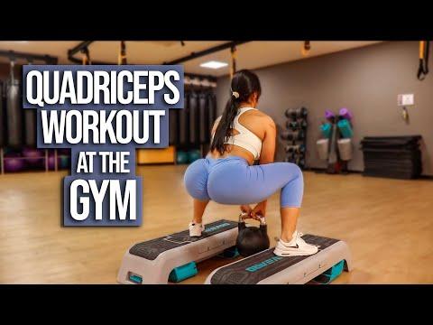 QUADRICEPS WORKOUT At The Gym| Mi ENTRENAMIENTO De CUADRICEPS En El Gimnasio 🏋️♀️
