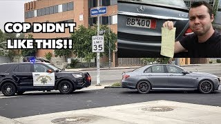 POLICE TICKET ME FOR ILLEGAL MERCEDES E63S MODIFICATION!