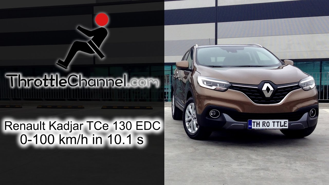 renault kadjar tce 130 edc acceleration youtube. Black Bedroom Furniture Sets. Home Design Ideas