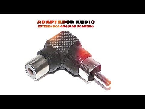 Video de Adaptador audio estereo RCA angular 90  Negro