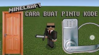 CARA BUAT PINTU KODE|HOW TO MAKE PASSWORD DOOR IN MINECRAFT Minecraft Tutorial #1