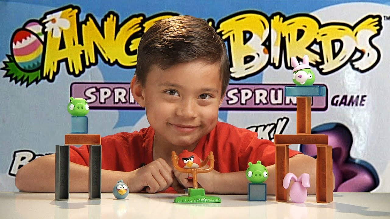Angry Birds Spring Has Sprung Game Destroy The Bunny