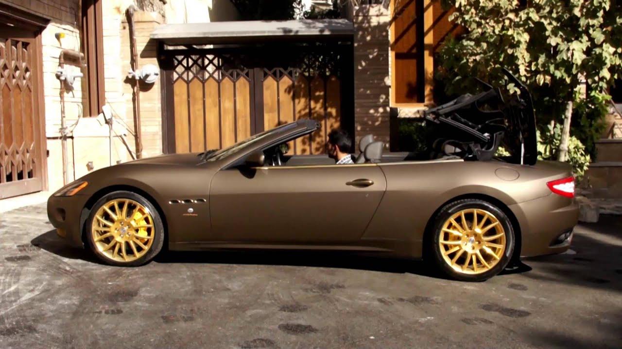Maserati Grancabrio Fendi Matte Brown Wrap Tehran Iran Youtube