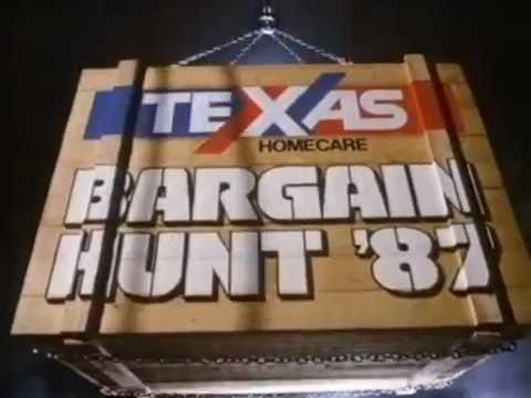 80s and 90s UK Adverts: Texas Homecare Bargain Hunt '87
