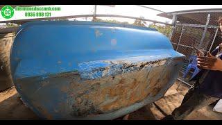 Hàn bồn composite rò rỉ nước