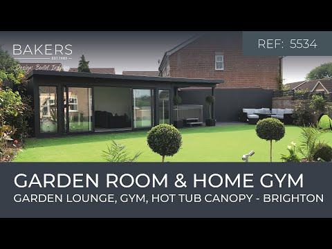 garden-room-&-home-gym-with-outdoor-hot-tub-&-side-canopy---brighton,-uk---ref:-5534