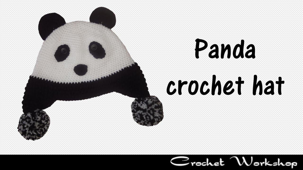 Panda crochet hat - YouTube