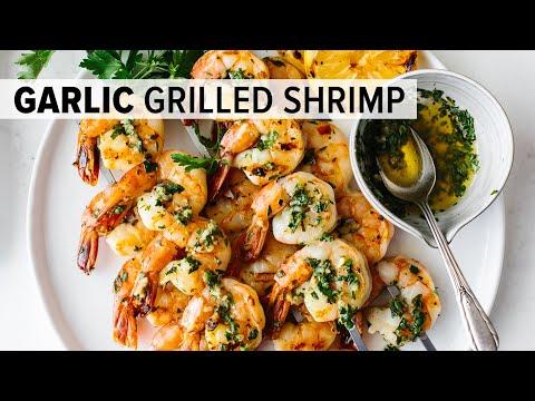 BEST GRILLED SHRIMP RECIPE | garlic grilled shrimp skewers easy!