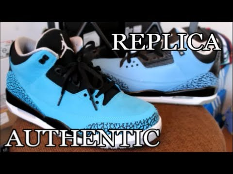 air jordan 3 powder blue real vs fake