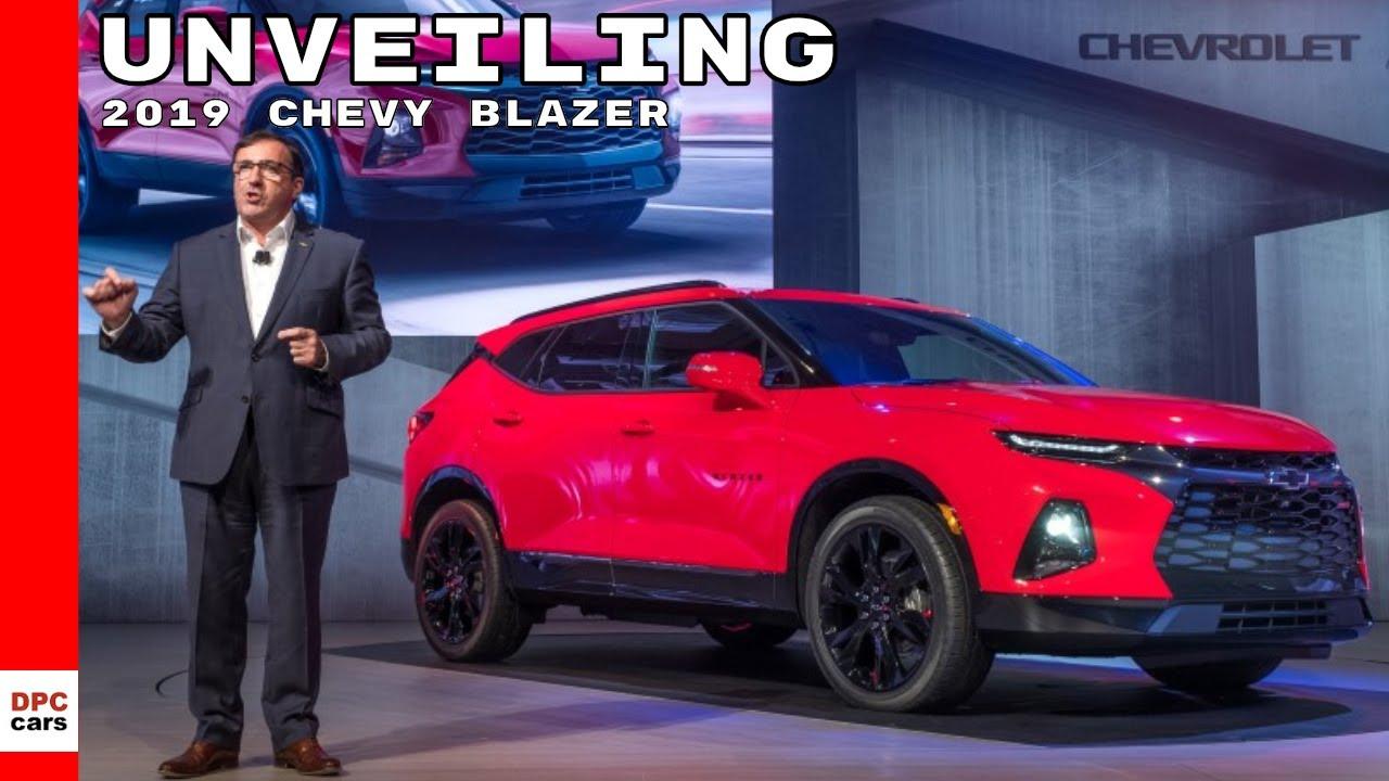 2019 Chevy Blazer Unveiling Chevrolet Youtube