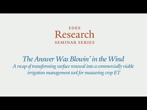 Research Seminar - The Answer Was Blowin' in the Wind
