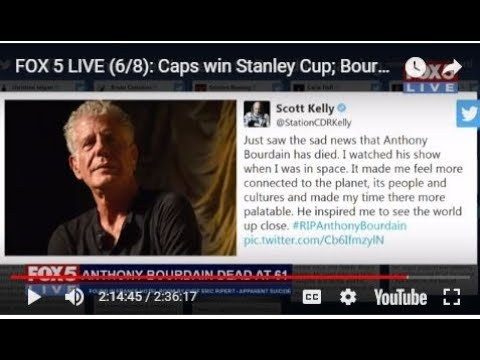 FOX 5 LIVE (6/8): Caps win Stanley Cup; Bourdain dead at 61 after apparent suicide