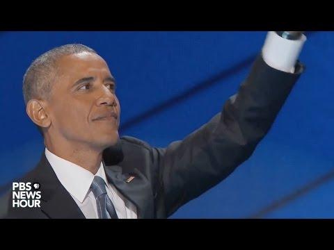 President Obama's farewell speech at 2016...
