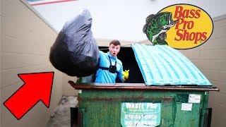 Dumpster Diving At BASS PRO SHOPS (Crazy!)