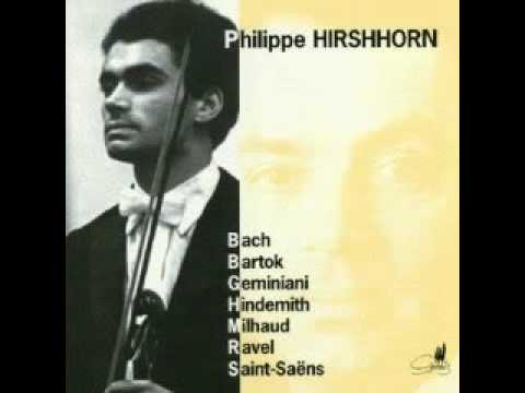 Download Philippe Hirshhorn playing bach sonata nr. 2 in a minor - Grave