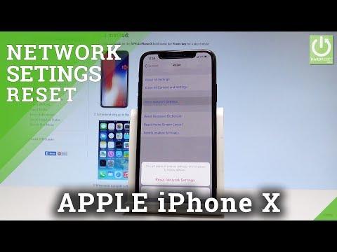 APPLE IPhone X RESET NETWOROK SETTINGS