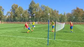 Андрій Шевченко та збірники грають у тенісбол
