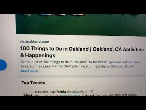 "Visit Oakland Just Issued ""100 Things To Do In Oakland"" - Uh, ""Shelter In Place""?"