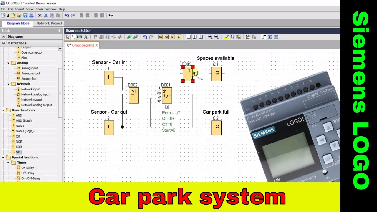 Simple Car Park System Siemens Logo Tutorial Plc Tutorial Youtube