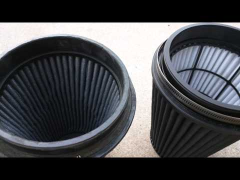 """AEM Brute Force 21-2099BF 6"""" x 9"""" DryFlow Air Filter - Old vs New"""