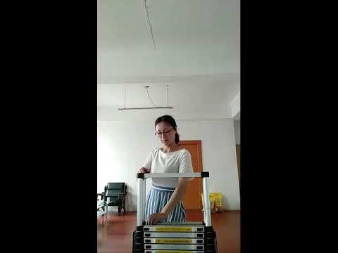 8070-118--柚柚的店【2.6米一字梯(42管長)】粗管伸縮梯 鋁梯 家用梯 關節梯 伸縮梯 樓梯 梯子