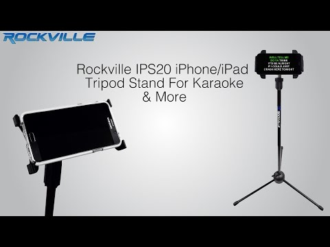 Rockville IPS20 iPhone/iPad Tripod Stand For Karaoke & More
