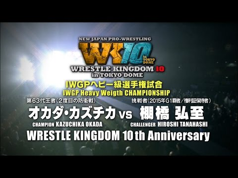 WRESTLE KINGDOM 10 in TOKYODOME PV