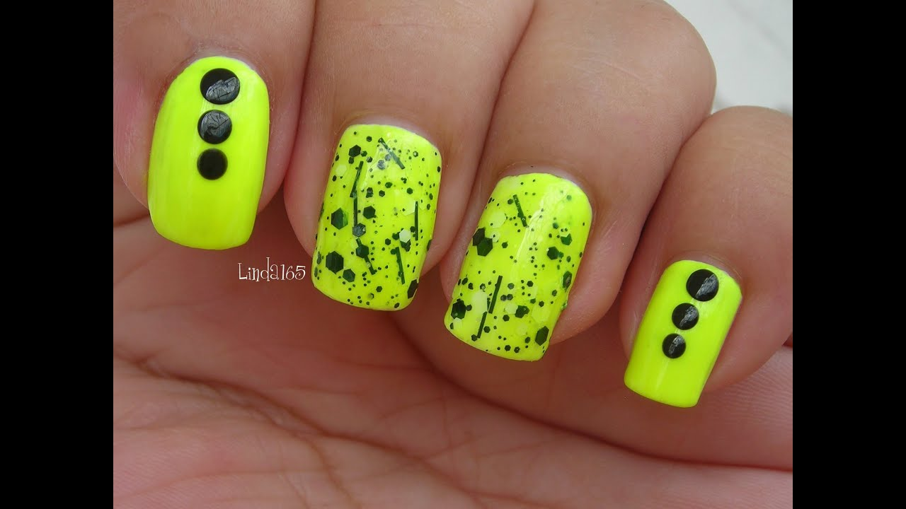 Nail Art - Neon Graffiti - Decoracion para Uñas - YouTube