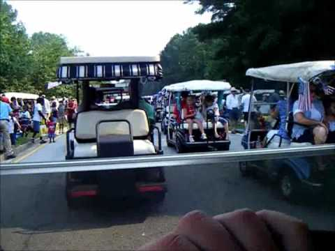 Golf cart jam in peachtree city,Ga