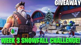 Semana 3 Secret Battle Star localização | #3 tela de carregamento | Desafio de queda de neve | Battle Royale do Fortnite