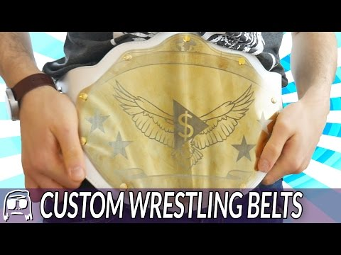 How To Make Your Own Custom Wrestling Championship Belts!!