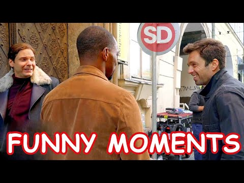 Falcon and the Winter Soldier funny moments | zemo dance, move your seat, white panther | SuperDUO