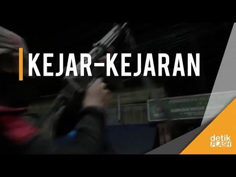Tegang! Tim Rajawali Bubarkan Tawuran Warga