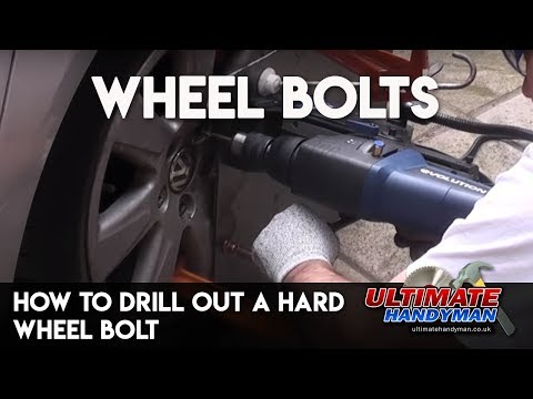 How to drill out a hard wheel bolt