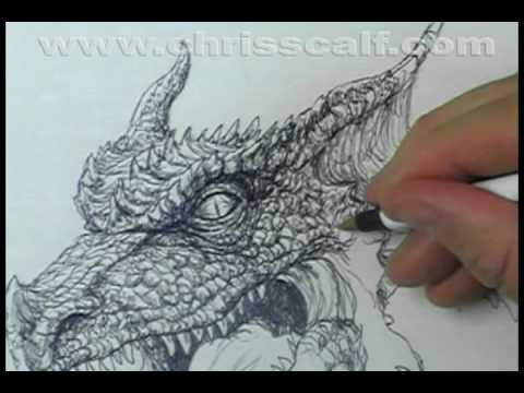 Ball Point Pen Dragon Sketch (for DVD Documentary Attempt)   YouTube