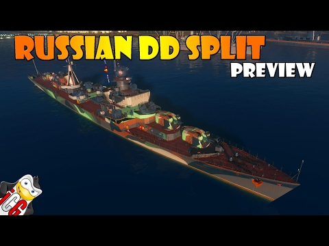 World of Warships - Russian Destroyer Split Preview