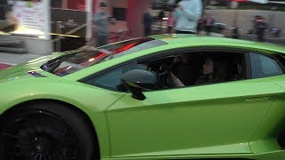 Download Video Hot girl driving a Lamborghini Aventador SV in Monaco MP3 3GP MP4