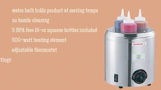 Server Topping Warmer with Squeeze Bottles screenshot 4