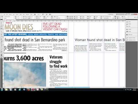 Intro to Newspaper Design with InDesign