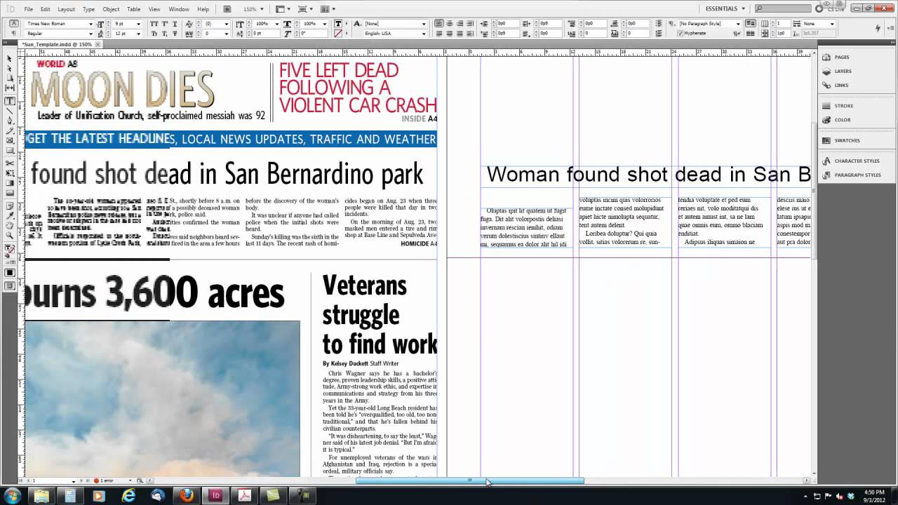 Intro to Newspaper Design with InDesign - YouTube