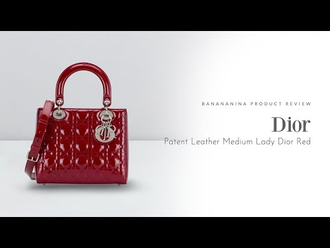 Banananina Product Review: Dior Patent Leather Medium Lady Dior Red