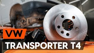 How to replace front brake discs / front brake rotors on VW TRANSPORTER 4 (T4) [TUTORIAL AUTODOC]