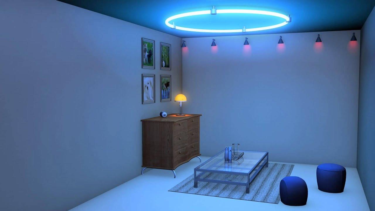 Maya Demo Reel Neon Blue Room 2017