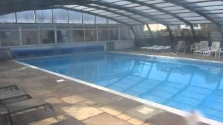 Andrewshayes caravan and touring park pool near Axminster Devon