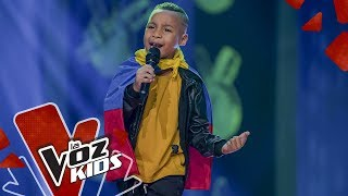 Millan sings De lao` a lao'  - Blind Auditions | The Voice Kids Colombia 2019