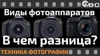 Виды фотоаппаратов. В чем разница?