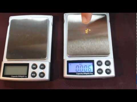 Gold Mining Digital Scale Demo - YouTube